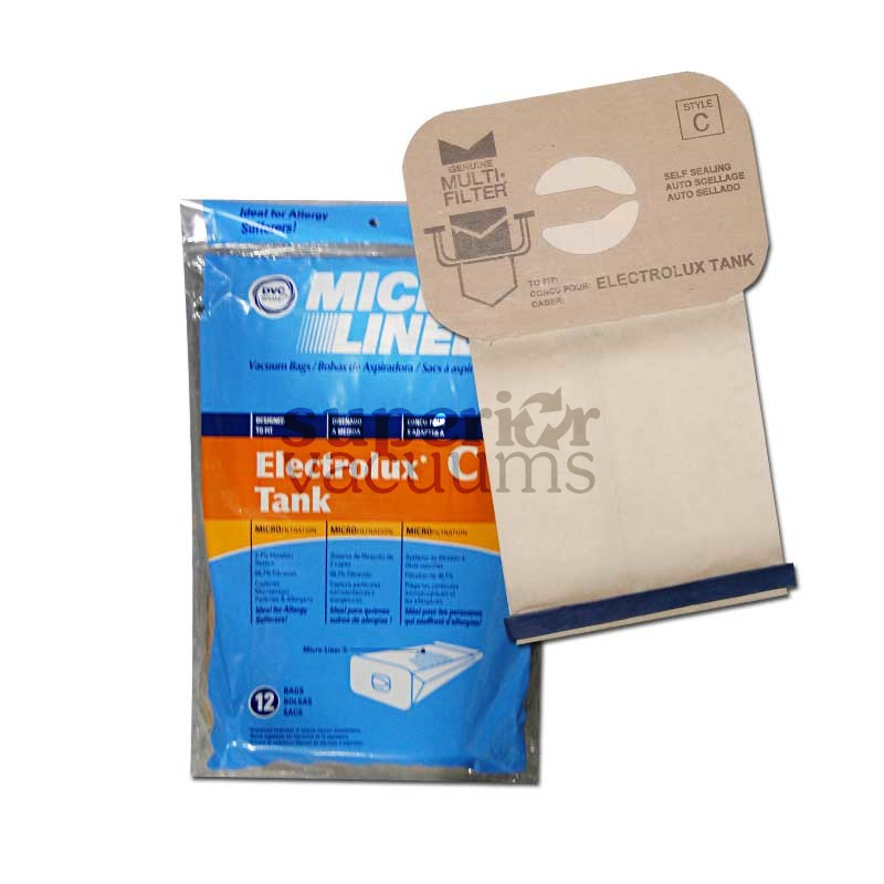 Paper Bag Microlined 12 Pack Fits All Canister Models Since 1952 2100