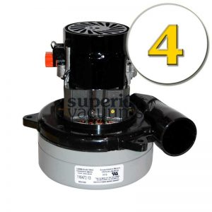 """Motor 2 Stage Bypass 5.7"""", Tangential Discharge 120 Volt Epoxy Painted Fan Case Air Sealed Bearings High Performance 11.7 Amps Case Of 4"""