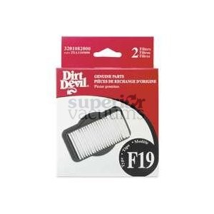 Devil Hepa Exhaust Filter 2Xa1185000 F19 Bv2030 Stick Broom 2 Pack
