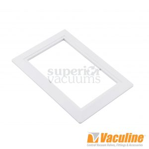 "Valve Trim Plate White 3 1/4X5"" Inside, 4X6""Outside"