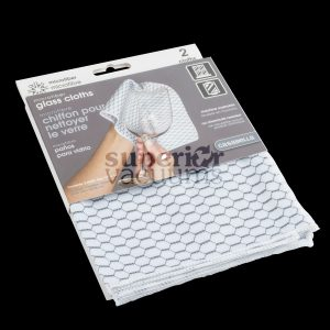 "Microfiber Glass Cloth White Honeycomb Print 12"" X 14"" (2Pk)"