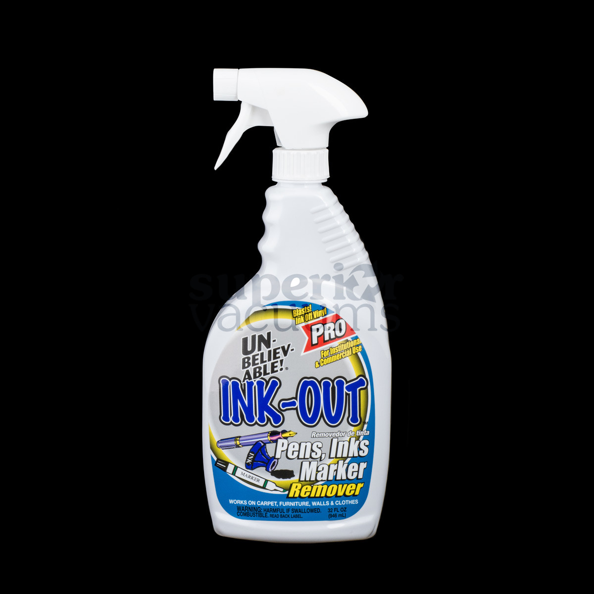 Ink-Out Pro Stain Remover 32 Ounce For Pen Inks And Marker