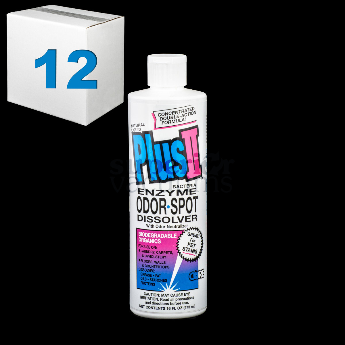 Ii Bacteria Enzyme Stain And Odor Remover 16 Ounce Case Of 12