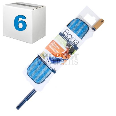 """Microplus 4"""" X 15"""" Mop6 X Mops With Telescopic Handle And Duster"""