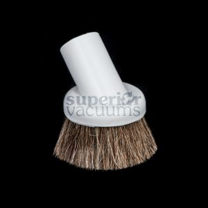 "Brush 1 1/4"" Fitall Grey Natural Horse Hair Bristles Soft Rubber"