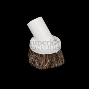 "Brush 1 1/4"" Fitall White Natural Bristles Soft Plastic Rubber"
