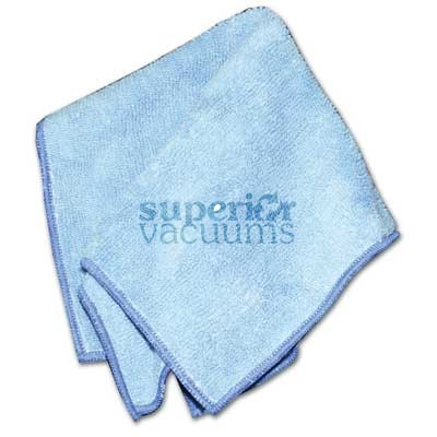 "Microfiber Cloth For Cleaning And Polishing Fine Surfaces 10"" X 12"" 25Cm X 30Cm Light Blue Lot Of 10"