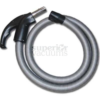 Click Hose 7.5' Canister Hose Silver With Black Ends With Switch