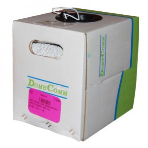 Wire 1000'Boxed Roll White 22 Guage 2 Wire Csa Ft4