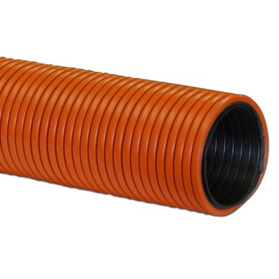 """Air Hose Double Walled Heavy Duty 50' X 2"""" Orange With Black Liner Crushproof Made In Usa"""