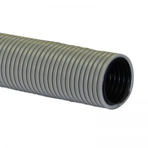 "Air Hose Double Walled 50' X 1 1/2"" Hard Smooth Outer Wall Grey With Black Liner Crushproof Made In Usa"