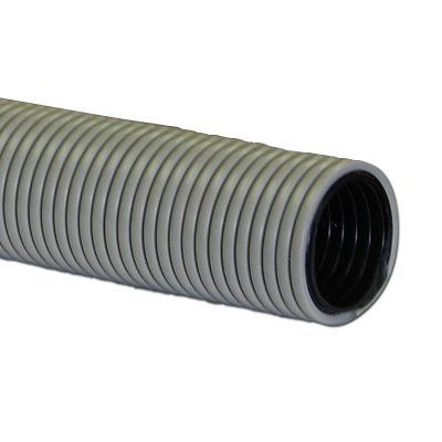 """Air Hose Double Walled 50' X 1 1/2"""" Hard Smooth Outer Wall Grey With Black Liner Crushproof Made In Usa"""