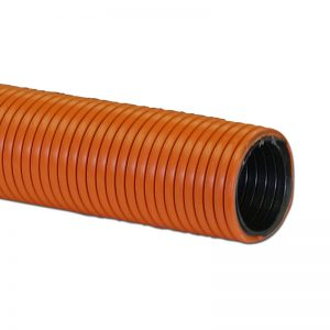 "Air Hose Double Walled Heavy Duty 50' X 1 1/2"" Orange With Black Liner Crushproof Made In Usa"