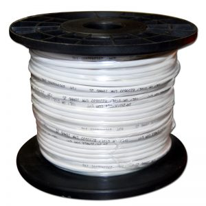 Wire 250' Roll White Lvt Ft4 18 Guage 2 Wire Csa 75 Meters