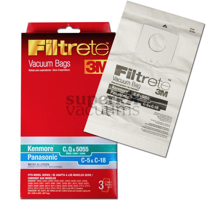 Paper Bag Microlined 3 Pack 3M Type 5055 50403 50557 50555 50558
