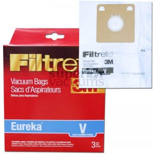 Paper Bag Type V 3 Pack 3M Fits Series 3800 3900 6700 6800 8000 8200 6810 Rally 6859 6876 6878 Beaumark 98605 Singer System 90
