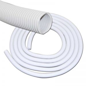 "Hose 60' X 1 1/4"" Light Grey Crushproof Plastiflex"