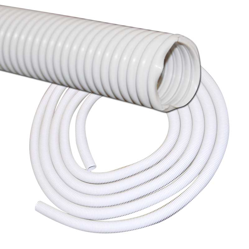"Hose 60' X 1 1/4"" Light Grey Crushproof Best Quality Plastiflex"