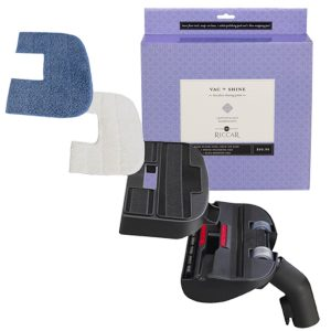 Vac And Shine Floor Cleaning System Snap On Base 1 Blue Mopping Pad 1 White Polishing Pad
