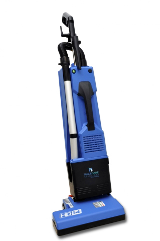 "Upright Vacuum Dual Motor 50' Cord 14"" Pn 6.5Qt Bag 1100W 66Db Blue"