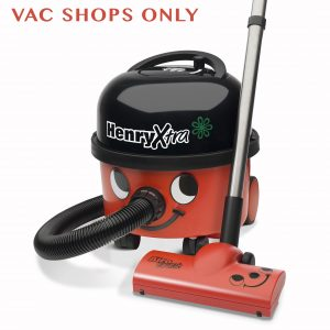 Henry Extra Canister Vacuum With Auto Save 114 Cfm Hi-Flo Airo Turbo Nozzle Red