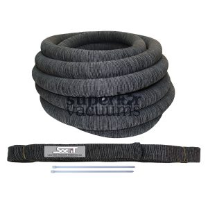 "Knitted Central Hose Sock With Zip Ties To Fit All Standard 1 1/4"" And 1 3/8"" X 30' Central Hose Charcoal Grey"