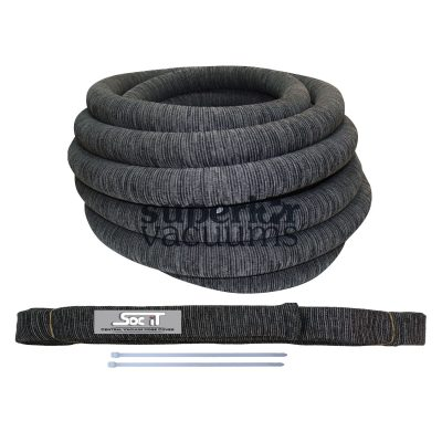 """Knitted Central Hose Sock With Zip Ties To Fit All Standard 1 1/4"""" And 1 3/8"""" X 35' Central Hose Charcoal Grey"""
