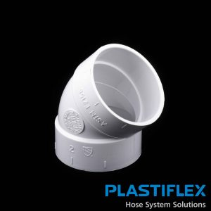 Fitting 45 Degree Ell White Plastiflex