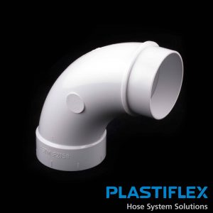 Fitting 90 Degree Sweep Ell Spigot White Plastiflex