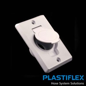 Valve Toilet Seat Door Almond Plastiflex