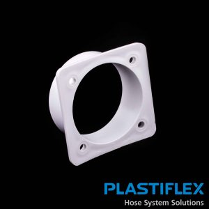 Fitting Flanged Input To Machine White May Need Seal Bi216 Plastiflex