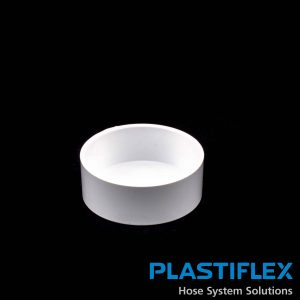 Fitting Pipe End Cap White Plastiflex