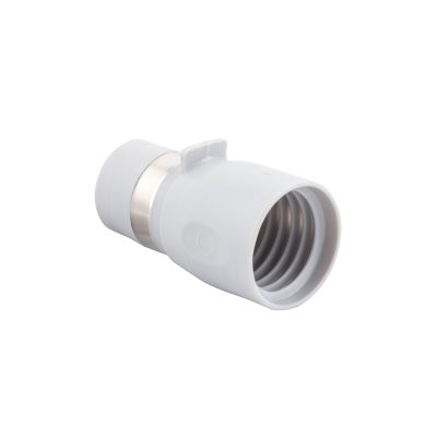 "Hose End With Metal Band For 1 3/8"" Hose To Fit Wall Valve Light Grey"