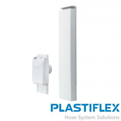 """Central Wall Mount Dual Function Sweep And Hose Valve White 18"""" Length"""