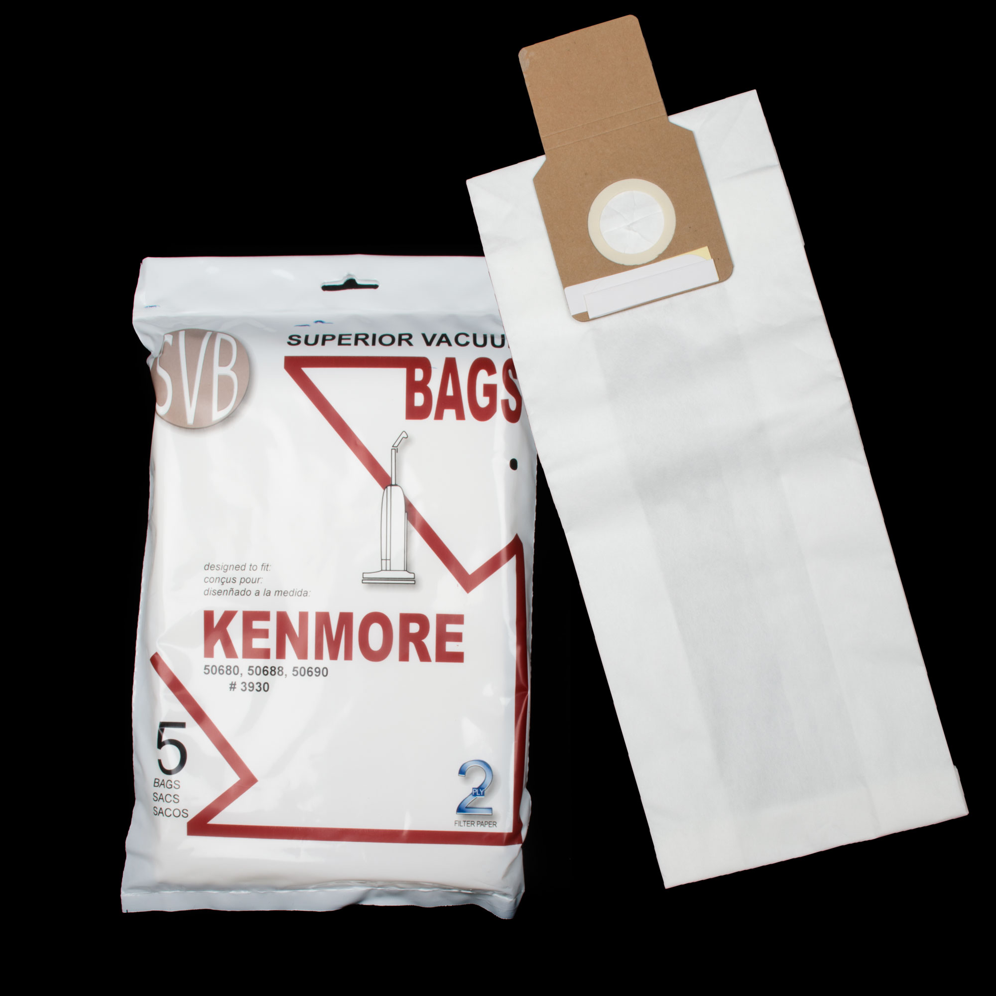Paper Bag 2 Ply 5 Pack With Rubber Seal