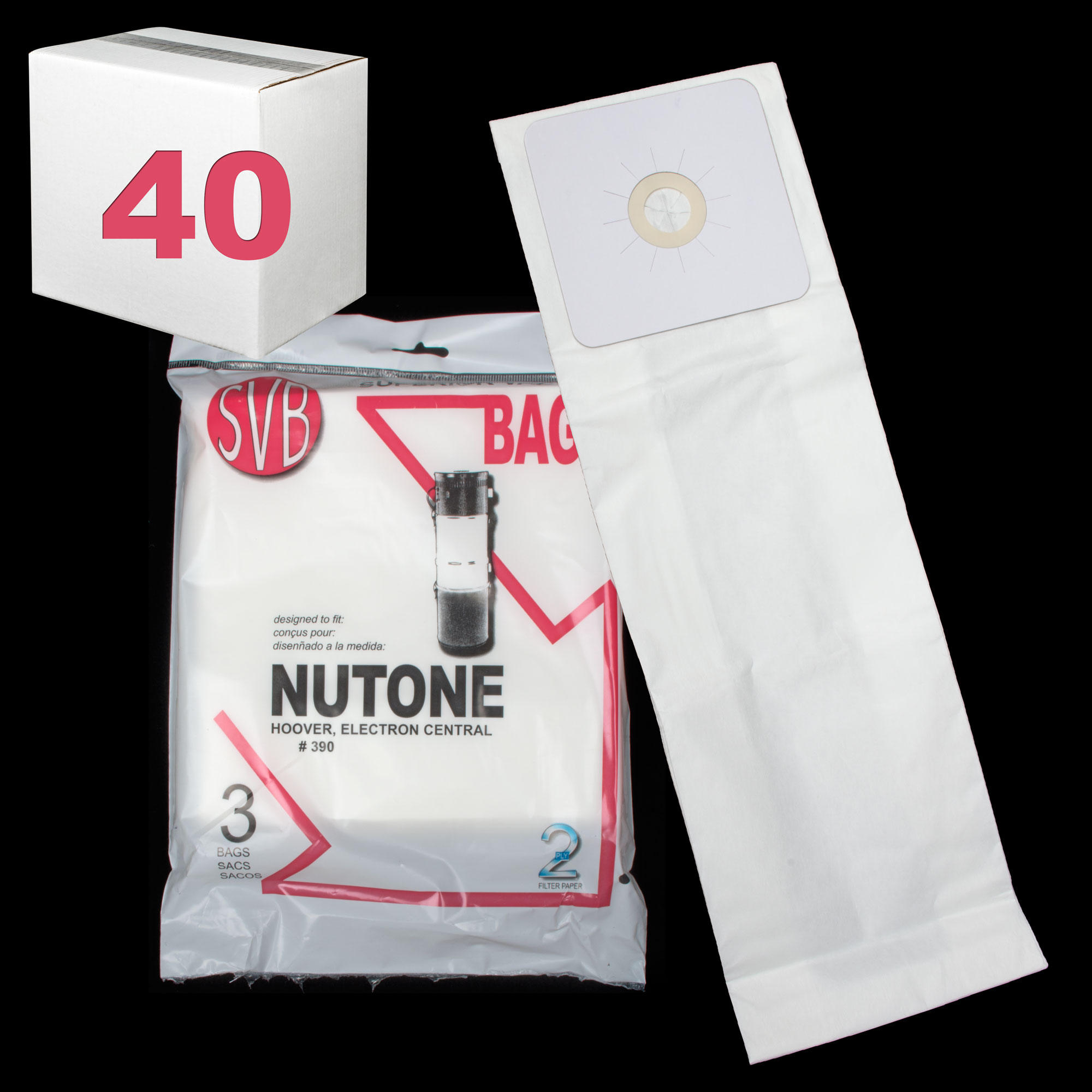 Electron Sc190 Sc300 Central Powerflite Upright Hoover Paper Bag 3 Pack Case Of 40