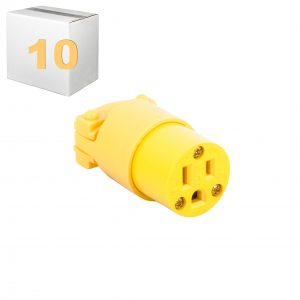 Plug Female 3 Wire Yellow Lot Of 10