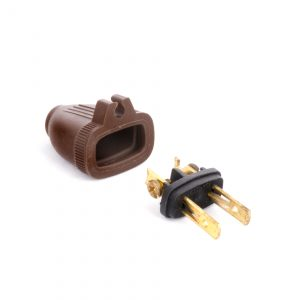 Wire Plug With Grip Brown