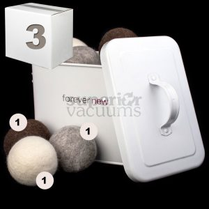 New Tumblers Pure Wool Dryer Balls Pack Of 3 Mix Of Grey Brown White
