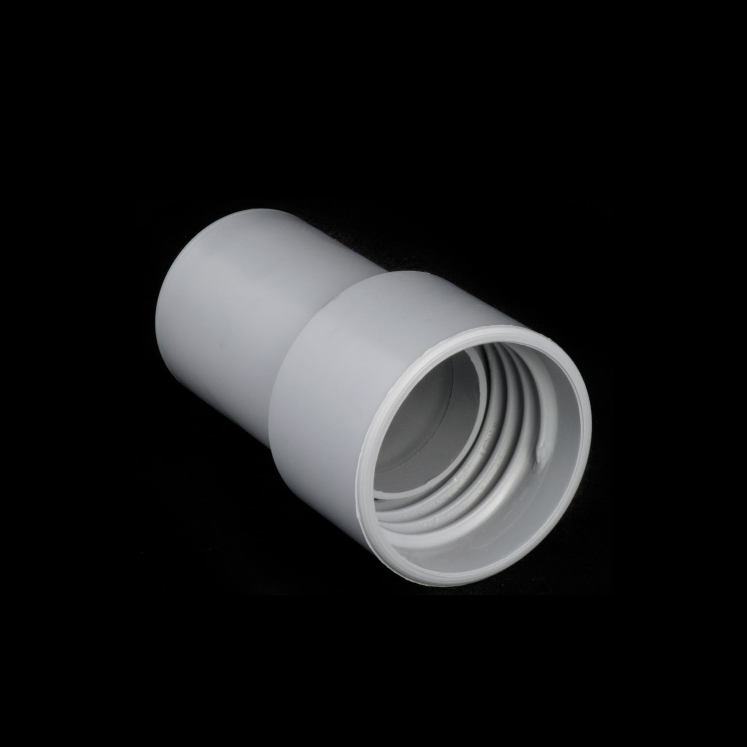 "End Fits All 1 1/2"" Light Grey Hose Including Double Walled (Deep Thread) Soft"