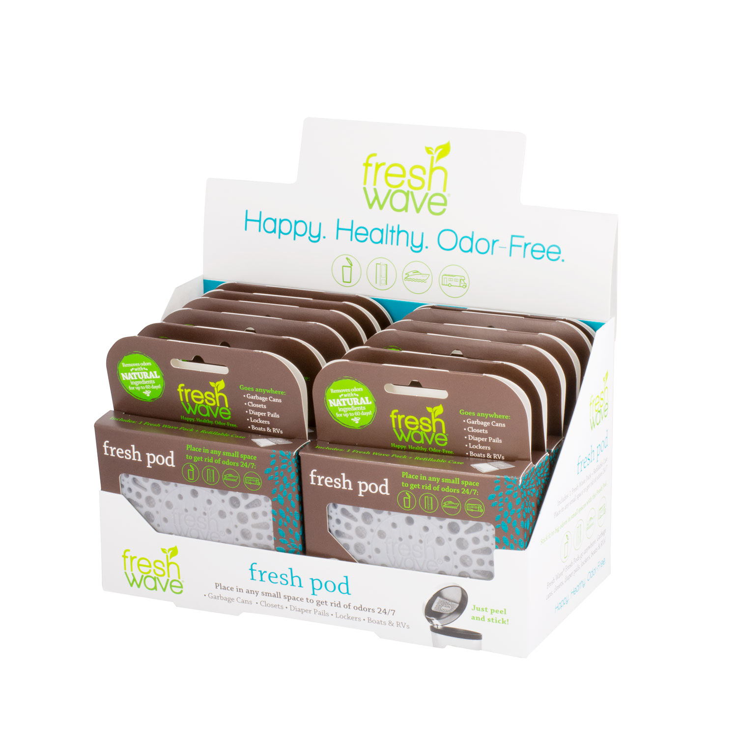 Wave Fresh Pod Odor Eliminator Counter Display