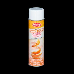 Orange Citrus Crazy Clean Spray & Wipe Heavy Duty All Purpose Cleaner And Deodorizer 20Oz Can Case Of 12