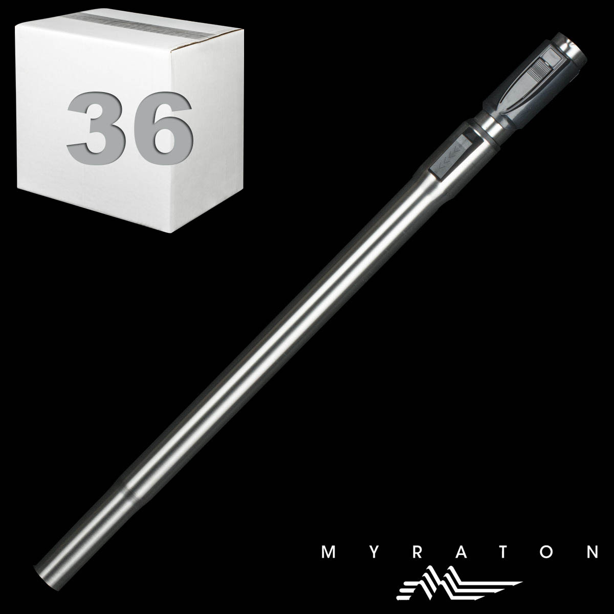 "Steel Telescopic Wand Friction Fit With Button Hole At Top 1 1/4"" X 23"""