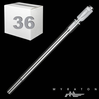 """Steel Telescopic Wand With 2 Piece Thumbsaver Button Lock 1 1/4"""" X 23"""""""