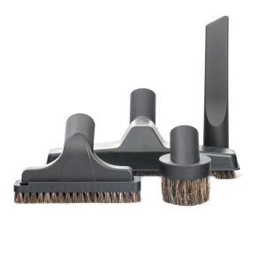 "Set 4 Piece Bare Floor With 10"" Floor Brush And Basic Tools 500 Black"