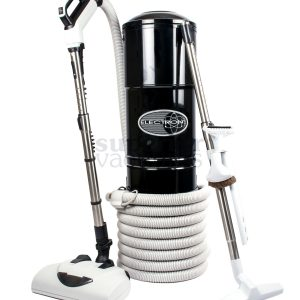 Central Vacuum And Wessel Werk Kit Black Hybrid With Dustlock Bag And Filter