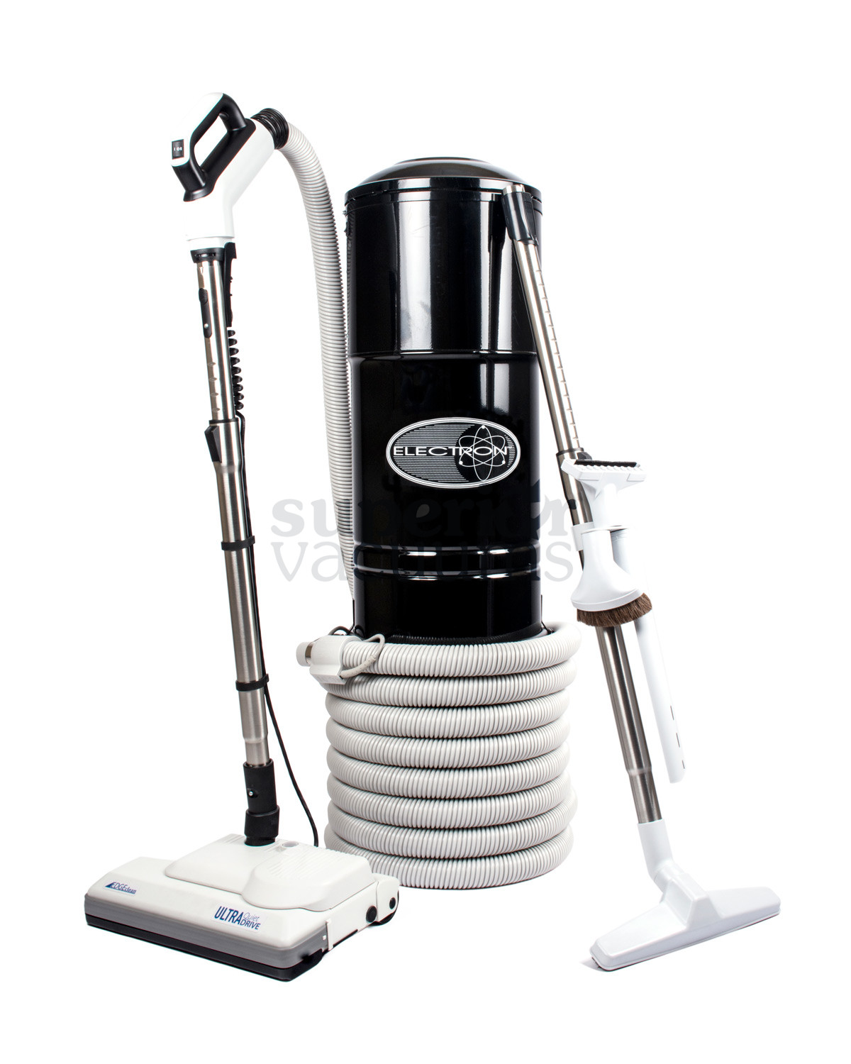 Central Vacuum And Tecnica Kit Black Hybrid With Dustlock Bag And Filter