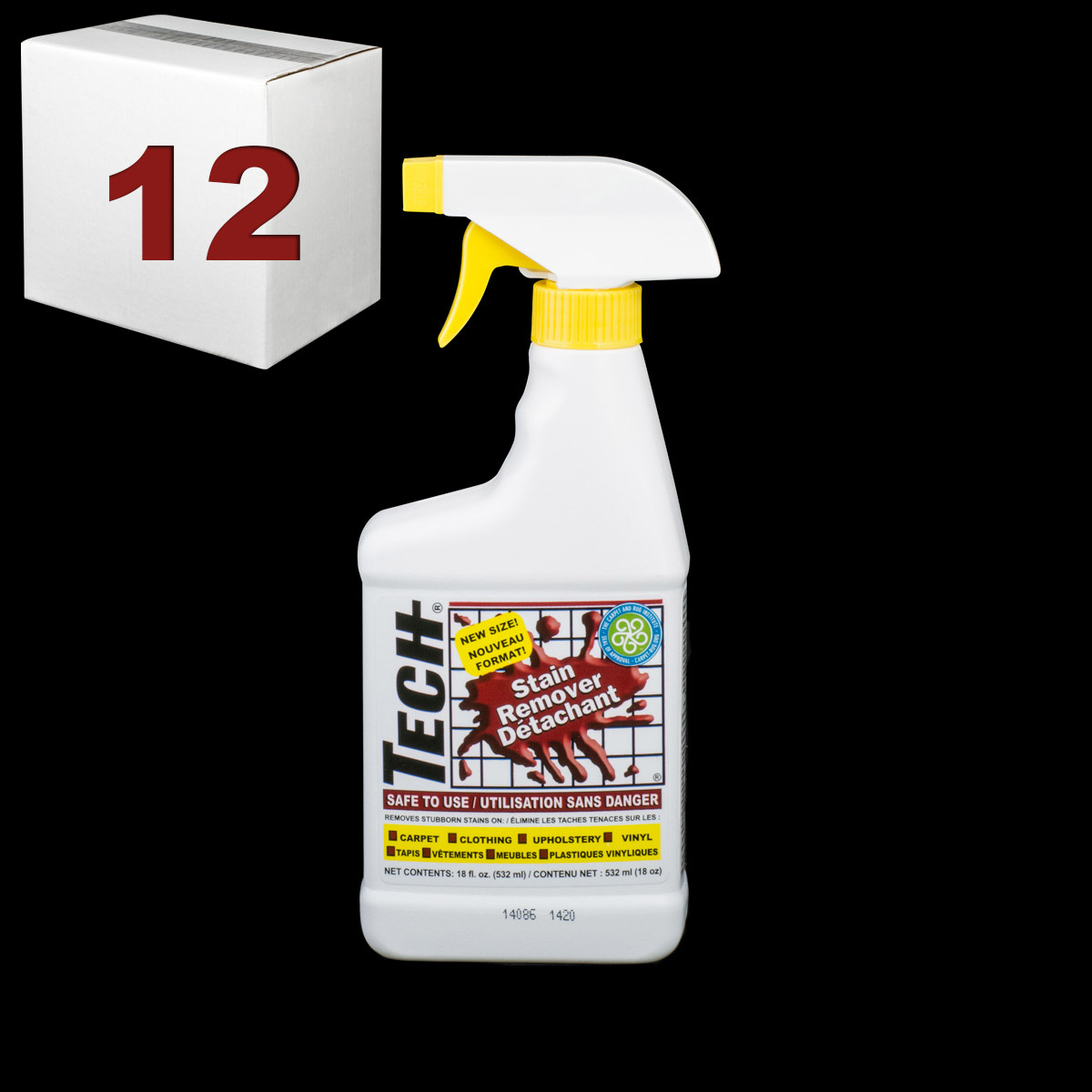 Stain Remover 18 Oz Trigger Spray Bottle Case Of 12