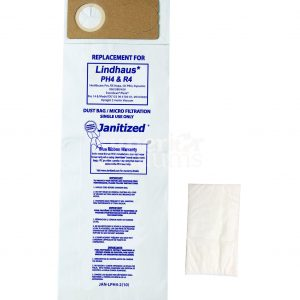 Paper Bag Lindhaus Healthcare Pro, Rx Hepa,Ch Pro, Dynamic 300 380 450 Micro Filter + 3 Pre Filters Case Of 10 10Pks