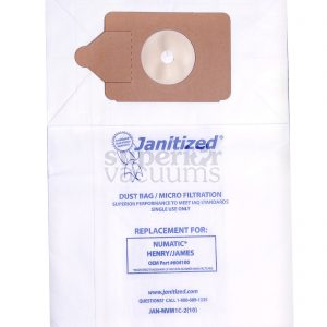 Paper Bag N.A.C.E & Numatic Henry James Vac Bag For Models 200, 225, 235, 250, 252 & 260, Rsv130 Rsv200 Micro Filter Case Of 10 10Pks